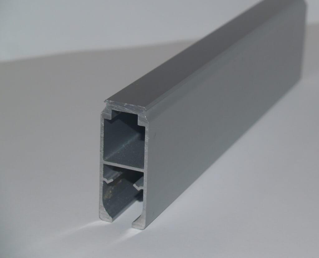 Aluminium rail versterkt/hoog montage